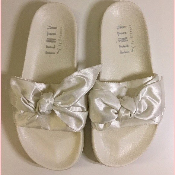 competitive price 5e78a 8681a Fenty Puma x Rihanna satin slide sandals